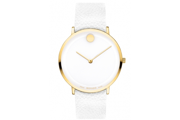 Large image of Movado Modern 47 40mm Light Yellow Gold PVD Stainless Steel Unisex Watch - 0607508