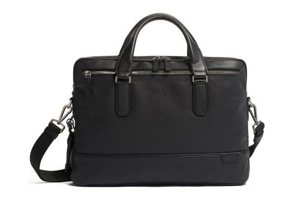 Large image of TUMI Harrison Black Sycamore Slim Brief Leather - 06302000DP