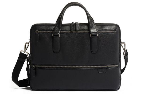 Large image of TUMI Harrison Black Harrow Double Zip Brief Leather - 06302002DP