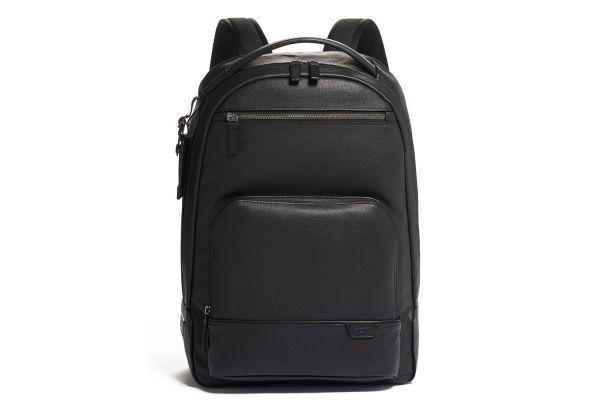 Large image of TUMI Harrison Black Warren Backpack Leather - 06302023DP