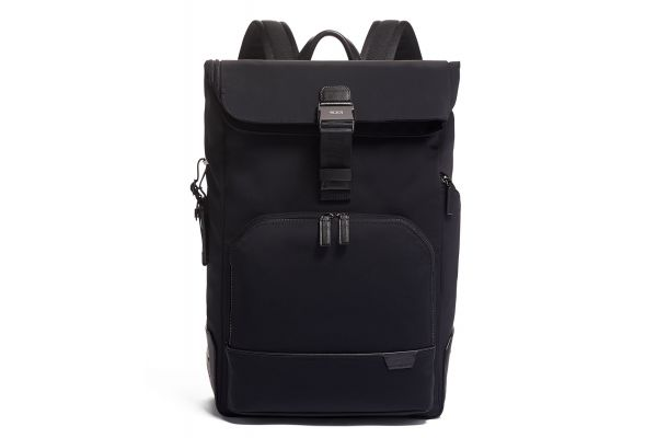 Large image of TUMI Harrison Black Osborn Roll Top Backpack - 06602021D