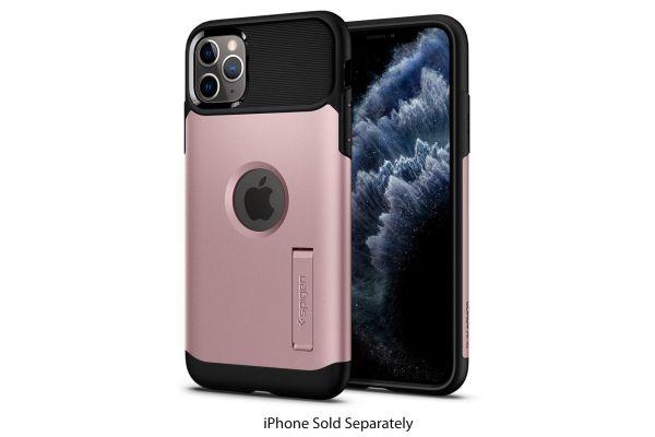 Large image of Spigen Slim Armor Rose Gold iPhone 11 Pro Case - 077CS27109