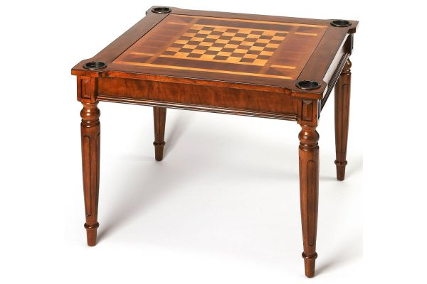 Large image of Butler Specialty Company Vincent Antique Cherry Multi-Game Card Table - 0837011