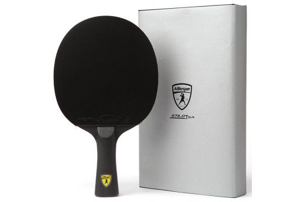 Large image of Killerspin Stilo7 SVR Black Ping Pong Paddle - 100-95