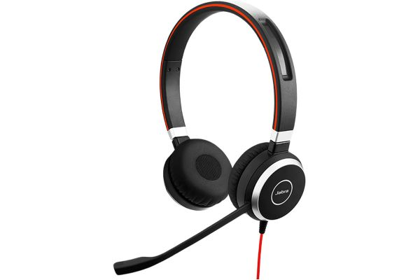 Large image of Jabra Black Evolve 40 UC Stereo SME Headset - 100-55910000-02