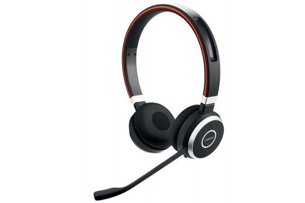 Large image of Jabra Black Evolve 65 UC Stereo Wireless Headset - 100-98500000-02