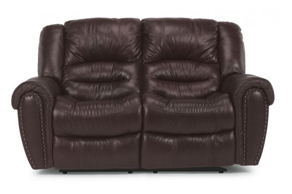 Large image of Flexsteel Town Barolo Leather Reclining Loveseat - 1010-60-048-62