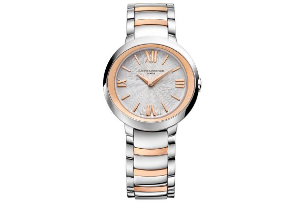 Baume & Mercier Promesse 30mm Two-Toned Stainless Steel And Rose Gold Womens Watch - 10159