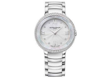 Baume & Mercier Promesse 34.4mm Stainless Steel Womens Watch - 10199