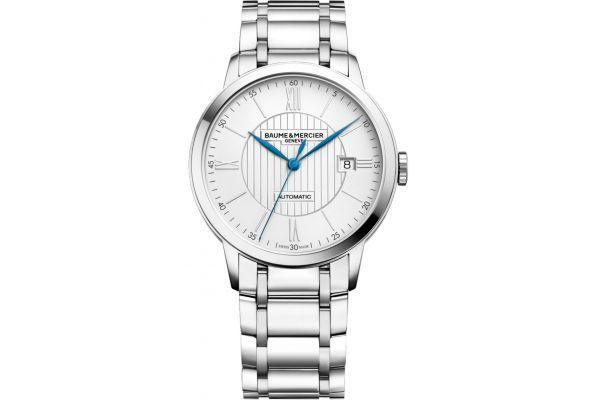 Large image of Baume & Mercier Classima 40mm Stainless Steel Mens Watch - 10215