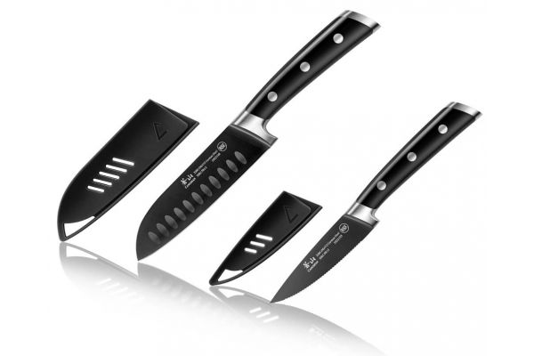 Cangshan S Plus Series Noir 2-Piece Santoku Knife Set - 1022094