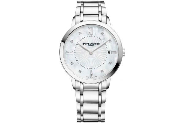 Baume & Mercier 36.5mm Classima Mother-Of-Pearl Womens Watch - 10225