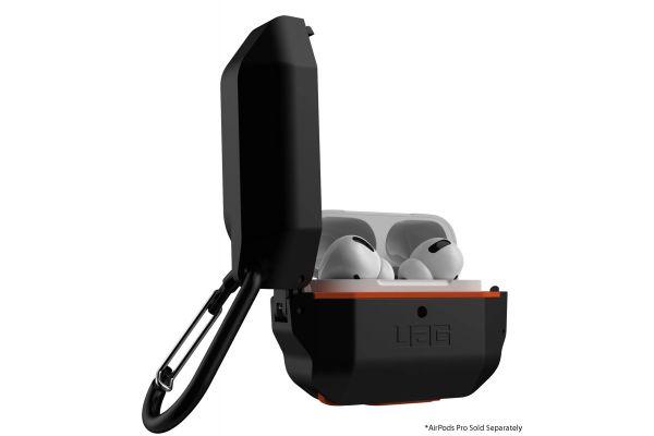 Large image of Urban Armor Gear Black/Orange Hard Case For Apple AirPods Pro - 10225F114097