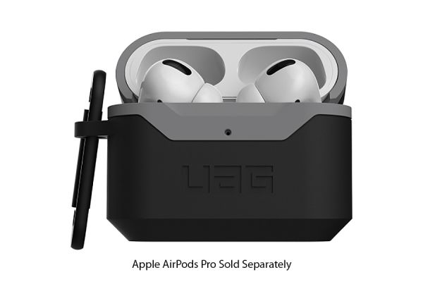 Large image of Urban Armor Gear Black/Grey Hard Case V2 For AirPods Pro - 10243F114030