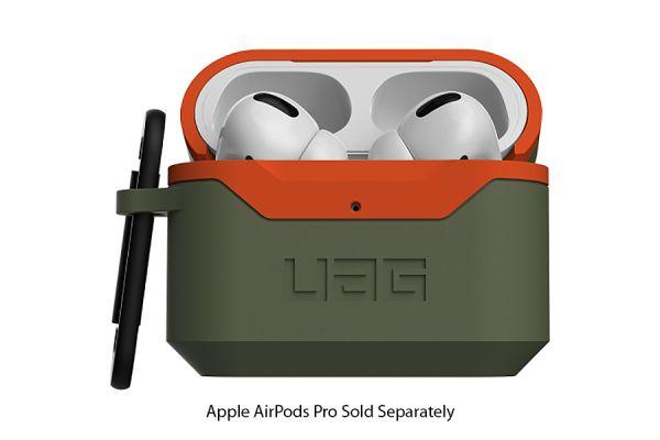 Large image of Urban Armor Gear Olive/Orange Hard Case V2 For AirPods Pro - 10243F117297