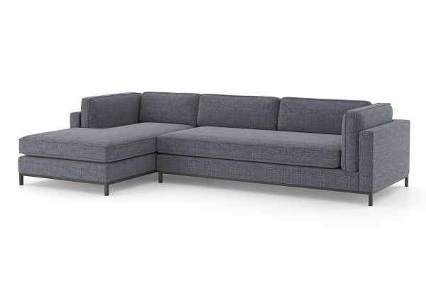 Large image of Four Hands Atelier Collection Cypress Navy Grammercy 2-Piece Chaise Sectional - 102726-002