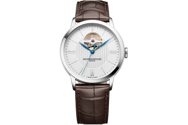 Large image of Baume & Mercier 40mm Classima Brown Alligator Leather Mens Watch - 10274