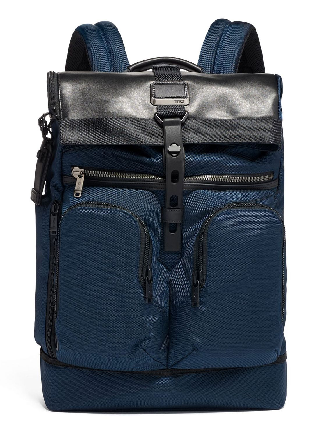 online store 5ff83 a7c36 Tumi Alpha Bravo Navy London Roll Top Backpack
