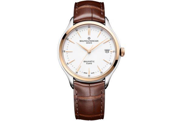 Baume & Mercier Clifton Baumatic 40mm White Dial Mens Watch - 10401