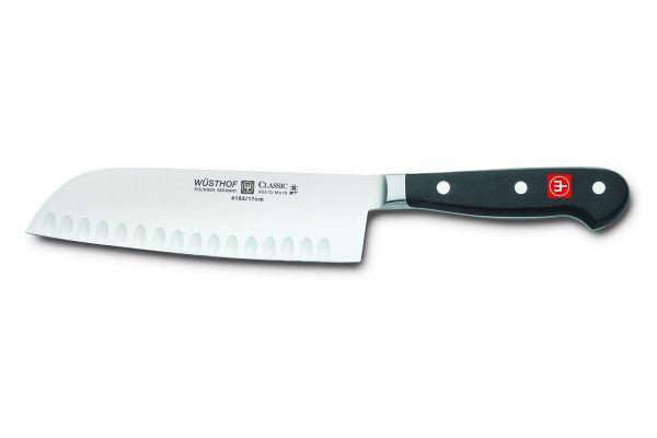 """Large image of Wusthof Classic 7"""" Hollow Edge Santoku Knife - 1040131317"""