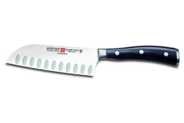 "Large image of Wusthof Classic Ikon 5"" Hollow Edge Santoku Knife - 1040331314"