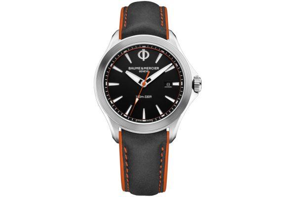 Large image of Baume & Mercier 42mm Clifton Black Dial Mens Watch - 10411