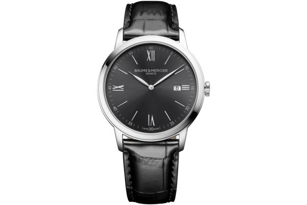 Baume & Mercier 42mm Classima Black Mens Watch - 10416
