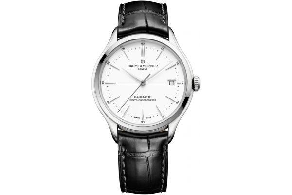 Baume & Mercier Clifton Baumatic 40mm White Dial Mens Watch - 10436