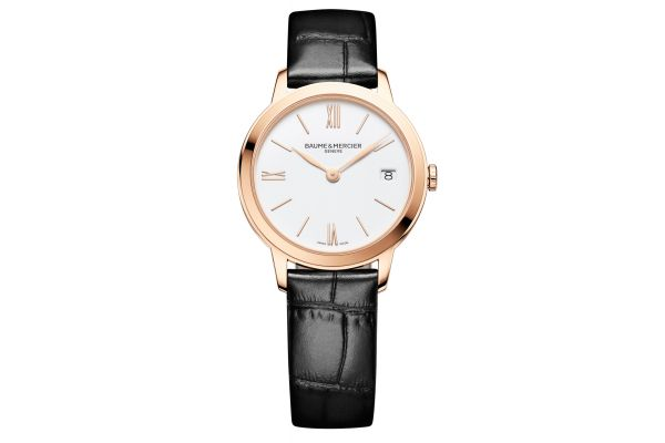 Large image of Baume & Mercier 31mm Classima White Dial Womens Watch - 10440