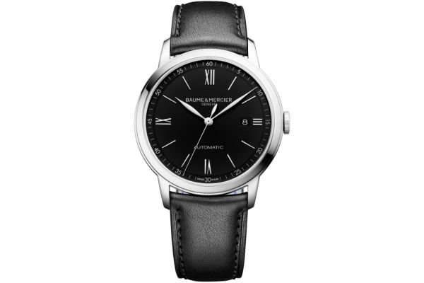 Large image of Baume & Mercier Classima 42mm Black Dial Mens Watch - 10453