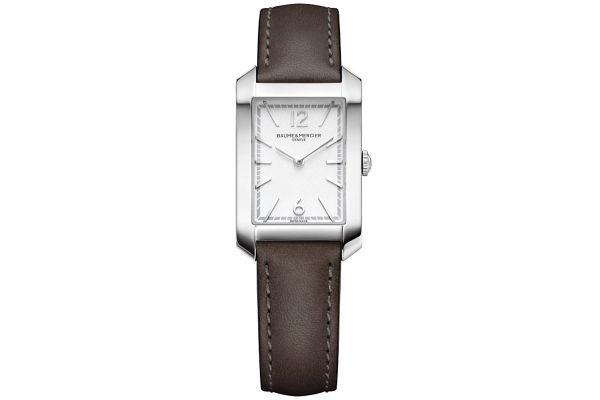 Large image of Baume & Mercier Hampton Rectangular Opaline, Silver Womens Watch - 10471