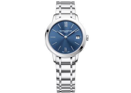Baume & Mercier 31mm Classima Blue Dial Women's Watch - 10477