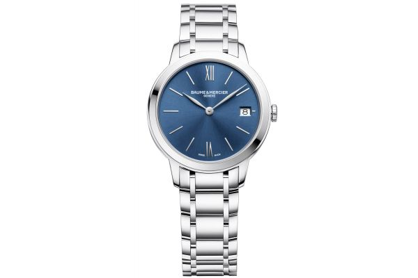 Baume & Mercier 31mm Classima Blue Dial Women's Watch - 10477