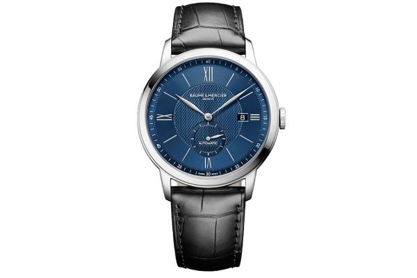 Large image of Baume & Mercier 42mm Classima Blue Dial Mens Watch - 10480