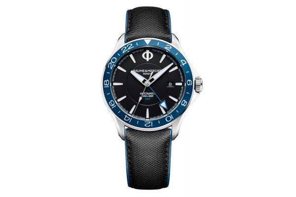 Large image of Baume & Mercier 42mm Clifton Club Black Dial Mens Watch - 10486