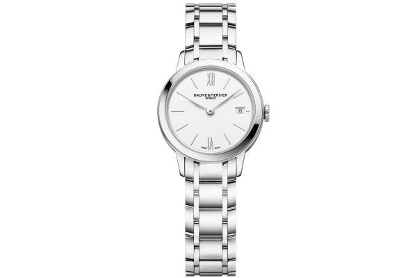 Baume & Mercier 27mm Classima White Dial Women's Watch - 10489