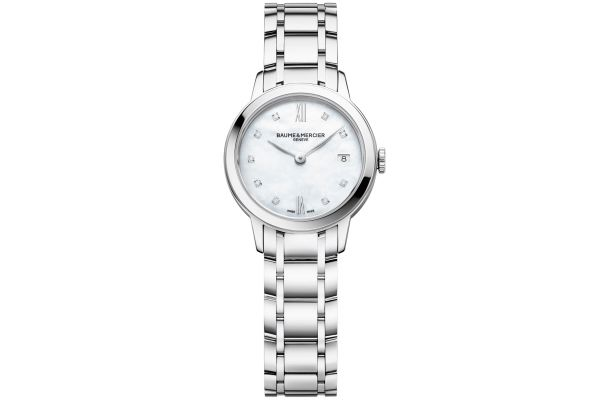 Large image of Baume & Mercier 27mm Classima Mother-Of-Pearl Dial Women's Watch - 10490