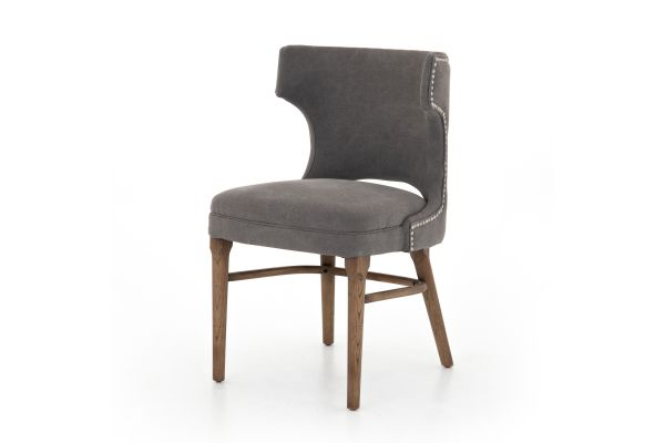 Large image of Four Hands Belfast Collection Canvas Dark Moon Task Chair - 105648-006
