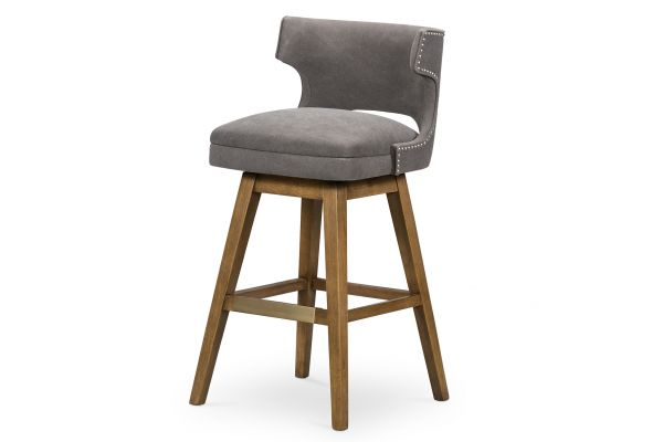 Large image of Four Hands Belfast Collection  Canvas Dark Moon Task Bar Stool - 105649-011