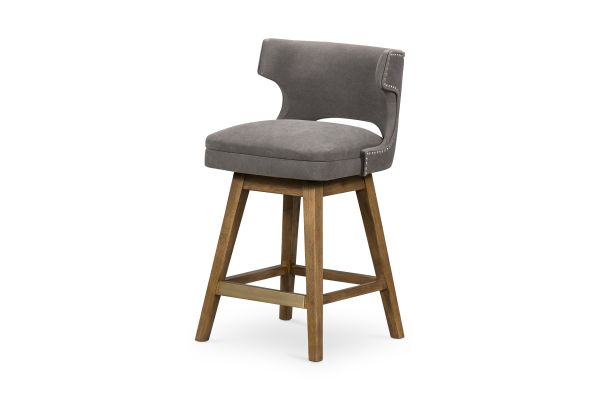 Large image of Four Hands Belfast Collection Canvas Dark Moon Task Bar Counter Stool - 105649-012