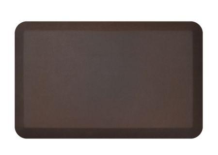 NewLife By GelPro Leather Grain Truffle 20x32 Designer Comfort Kitchen Mat - 106-16-2032-2