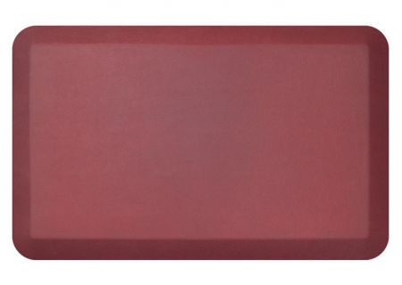 NewLife By GelPro Leather Grain Cranberry 20x32 Designer Comfort Kitchen Mat - 106-16-2032-8