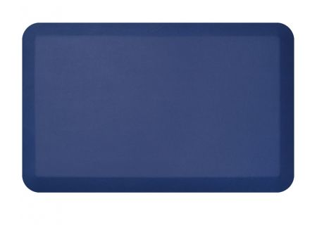 NewLife By GelPro Leather Grain Navy 20x32 Designer Comfort Kitchen Mat - 106-16-2032-9