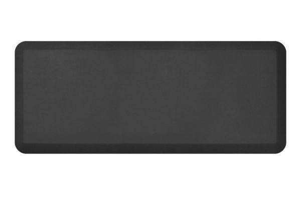 NewLife By GelPro Leather Grain Jet 20x48 Designer Comfort Kitchen Mat - 106-16-2048-1