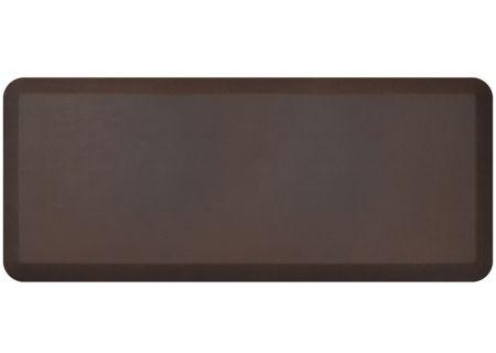 NewLife By GelPro Leather Grain Truffle 20x48 Designer Comfort Kitchen Mat - 106-16-2048-2