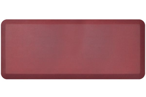 NewLife By GelPro Leather Grain Cranberry 20x48 Designer Comfort Kitchen Mat - 106-16-2048-8