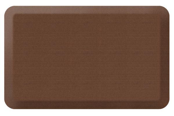 Large image of GelPro NewLife Designer Comfort 20x32 Grasscloth Java Kitchen Mat - 106-23-2032-1