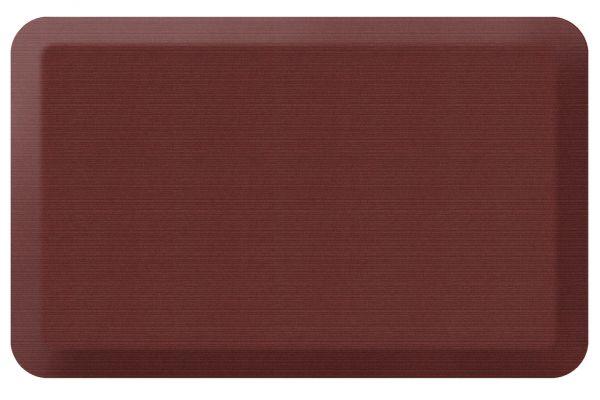 Large image of GelPro NewLife Designer Comfort 20x32 Grasscloth Crimson Kitchen Mat - 106-23-2032-2