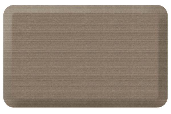 GelPro NewLife Designer Comfort 20x32 Grasscloth Pecan Kitchen Mat - 106-23-2032-3