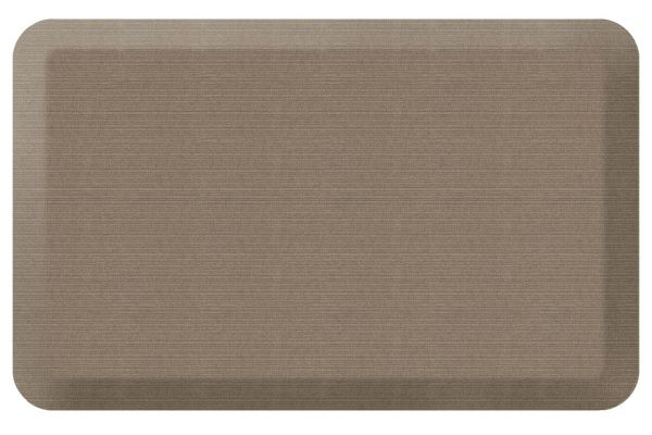 Large image of GelPro NewLife Designer Comfort 20x32 Grasscloth Pecan Kitchen Mat - 106-23-2032-3